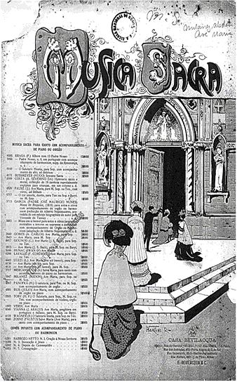 Figure 1 – Cover of Ave Maria de Abdon Milanez, published by E. Bevilacqua & C. between 1913 and 1925 (CMSRB-018/044).